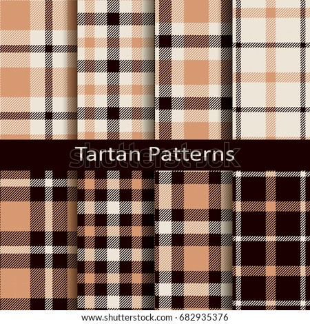 Tartan Pattern lumberjack tartan buffalo check plaid patterns stock vector