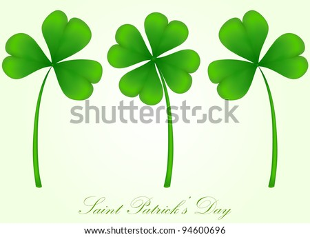 vector set of three and four leaf clover - stock vector