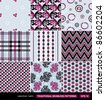 Vector set of traditional, classic and modern, colorful seamless patterns (fashion fabric texture template) for textile decoration an design - stock vector