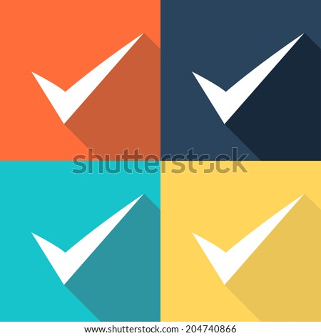 Vector set of true signs  - stock vector