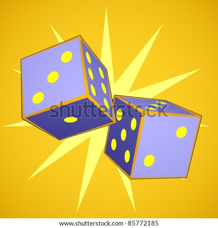 vector set of two dice - stock vector