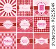 Vector set of valentine's day vintage backgrounds. - stock vector