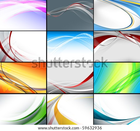 vector set of various of business cards templates. Eps10 - stock vector