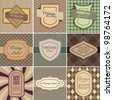 Vector set of vintage backgrounds with place for text. - stock photo