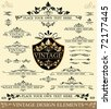 Vector Set of Vintage Design Elements:  ornaments,frames and dividers - stock vector