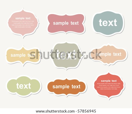 Vector set of vintage frames - stock vector