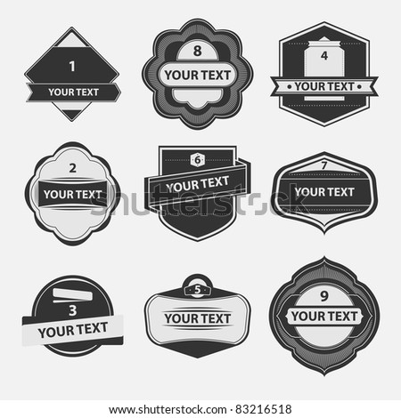 Vector set of vintage label - stock vector