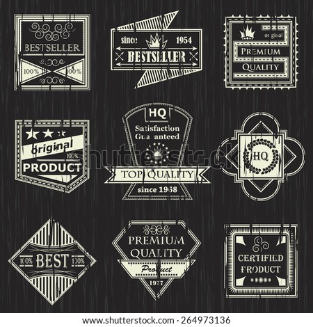 Vector set of vintage labels. Retro labels. Grunge design       - stock vector