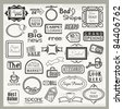 Vector set of vinyl ready sign designs and banner headers and labels. - stock vector