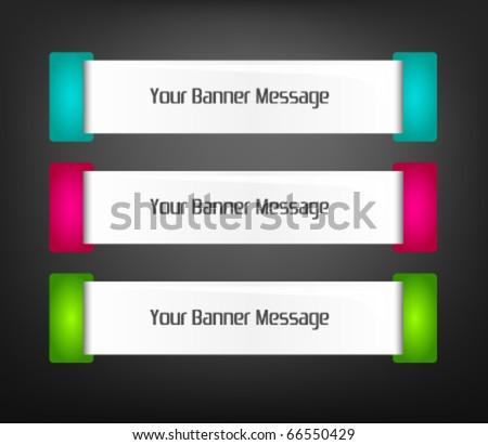 vector set of web banner elements - stock vector