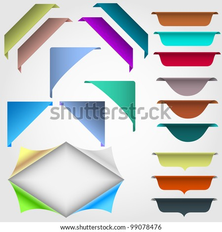 Vector set of web design elements - stock vector