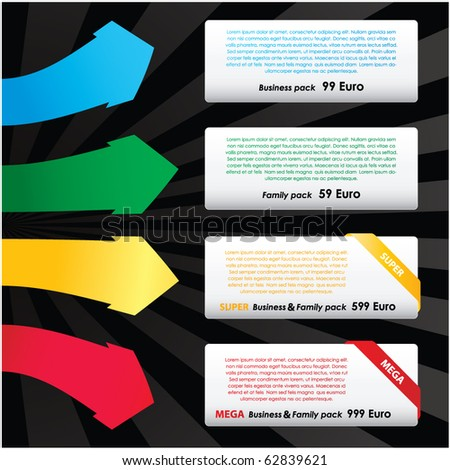 vector set of web elements - stock vector