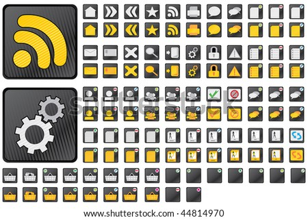 Vector set of 57 web icons. Included rollovers. Easy to edit. - stock vector