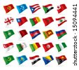 Vector set of world flags 4 - stock photo