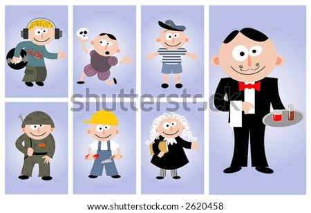 Vector set-people's occupations - stock vector