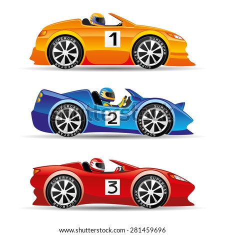 cartoon racing car stock photos images pictures. Black Bedroom Furniture Sets. Home Design Ideas