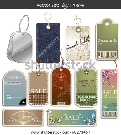 vector set: tags - 11 items