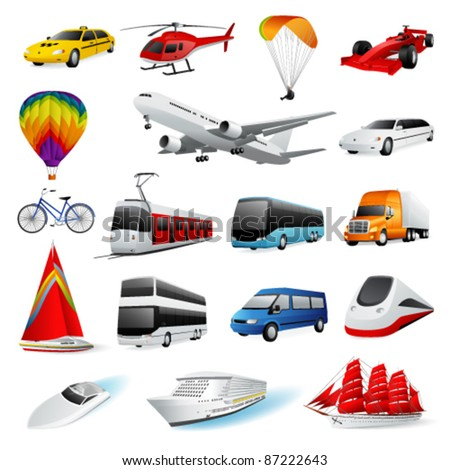 Vector set: transport - stock vector