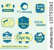 Vector Set: Vintage Astronomy Class Labels and Icons - stock vector