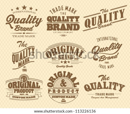 Vector set vintage labels - stock vector