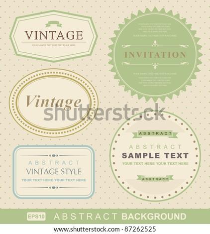vector set: vintage labels - stock vector