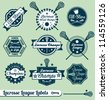 Vector Set: Vintage Lacrosse League Labels and Stickers - stock vector