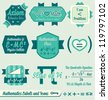 Vector Set: Vintage Mathematics Class Labels and Icons - stock photo