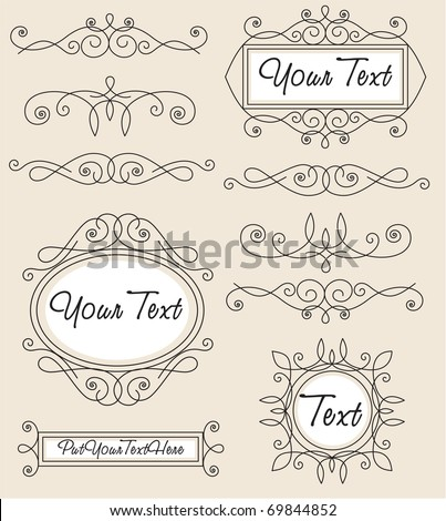 vector set vintage ornament - stock vector
