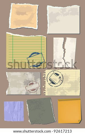 Vector set vintage paper - stock vector