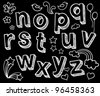 Vector set with hand written ABC letters - stock photo