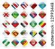 Vector set world flag icons 4 - stock photo