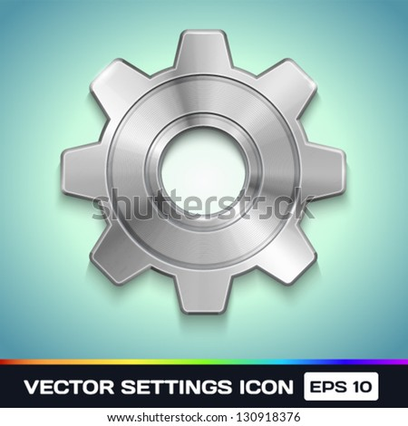 Vector Settings Gear Icon - stock vector