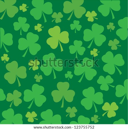 vector shamrock background for St.Patrick day - stock vector