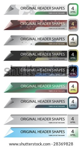 Vector shape for  headers, easy to use separate parts, simple to recolour.  This shape perfectly aligned about pixels,  you can use it for creation of precise design. EPS, SVG, JPG, AI.