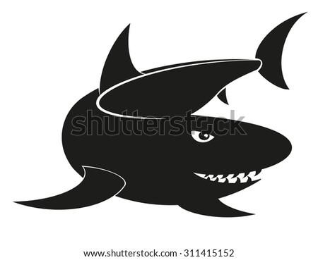 Vector shark - stock vector