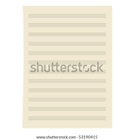 Vector. sheet music. - stock vector