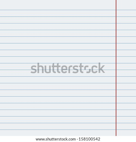 Vector sheet of paper in line, with the red fields, old design. - stock vector