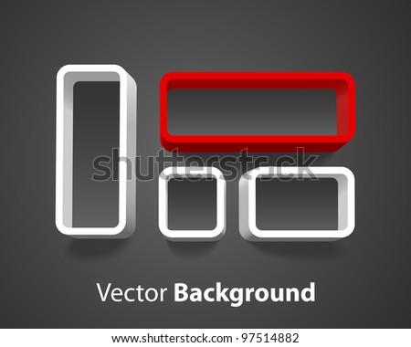 Vector shelf background - stock vector