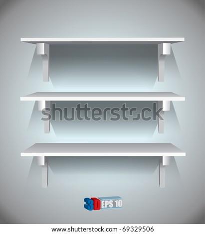 Vector shelves - stock vector