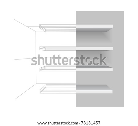 Vector shelves - stock vector