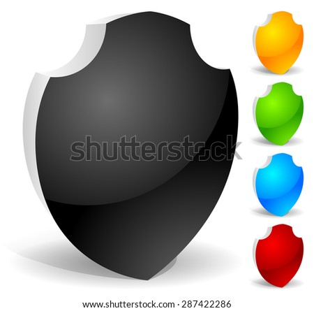 vector shield icons - stock vector