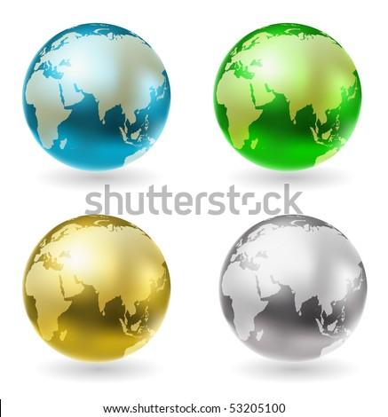 vector shining globe - stock vector