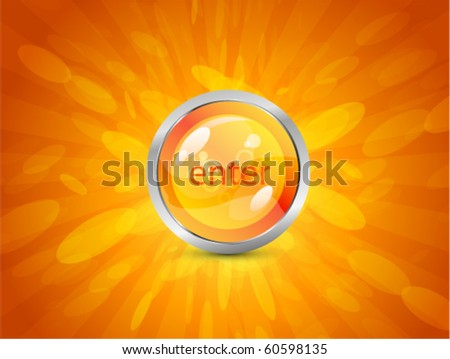 Vector shiny background with Enter button - stock vector