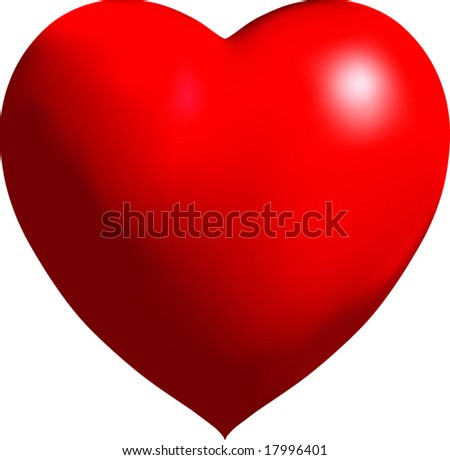 Vector Shiny Balloon Heart - stock vector