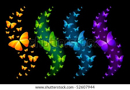 Vector Shiny Butterflies
