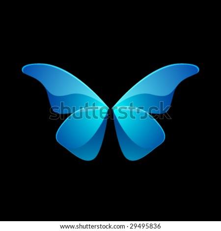 Vector Shiny Butterfly - stock vector