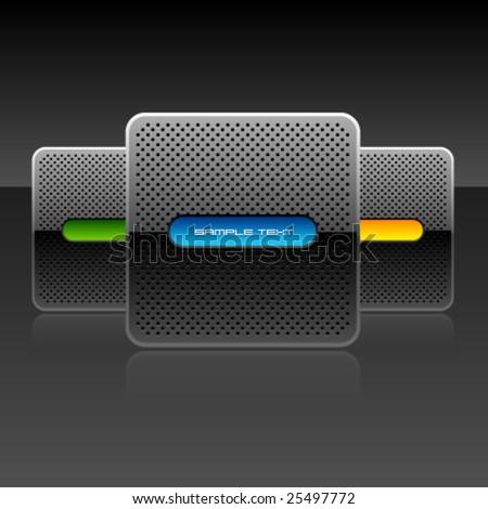 Vector Shiny Design Set - stock vector