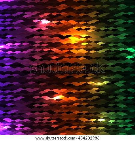 vector shiny glowing multicolored background. EPS - stock vector