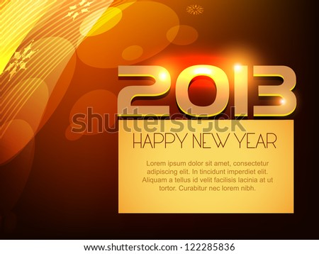 vector shiny happy new year design with space for your text
