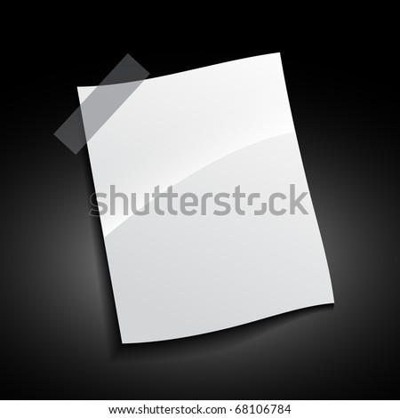 vector shiny paper illustration design - stock vector